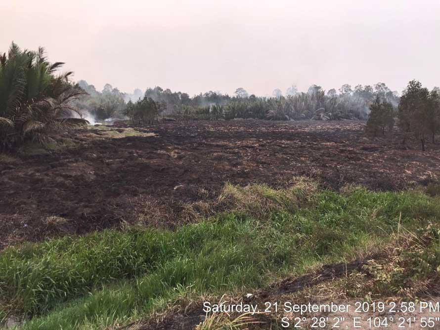 The fire in Mukut, South Sumatra is completely contained at 2.58 pm